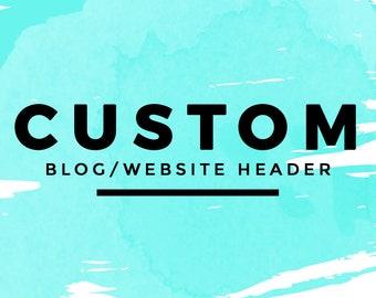 Custom Blog Header   Wordpress Blog Logo Design   Fashion Blog Logo   Beauty Blog Header   Blogger Custom Blog Design   Colorful Blog Design