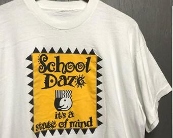 XL vintage 80s School Daze bootleg movie rap t shirt