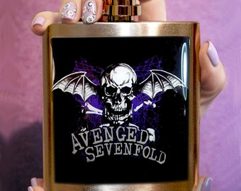 FLASK AVENGED SEVENFOLD Flask Stainless Steel 6 oz Custom flask Hip flask Liquor flask