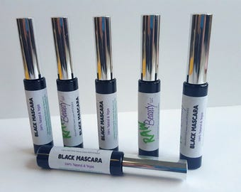 Black Natural Mascara - Vegan Mascara - Black Mascara by RAW Beauty LLC