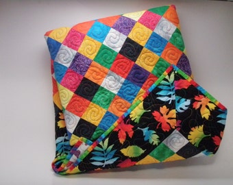 Patchwork Quilt Toddler Lap Gummy Worms Quiltsy Handmade