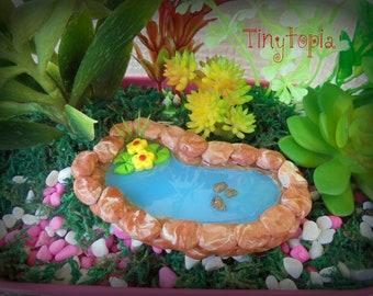 Fairy Garden Terrarium Miniature Clay Pond