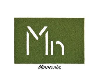 Minnesota Synthetic Grass Doormat | Rug | Wall Decor