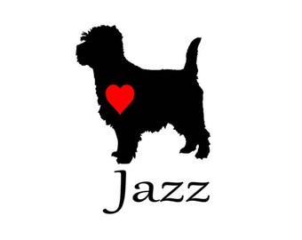 cairn terrier vinyl decal