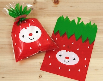 Strawberry Plastic Bags (20 bags)