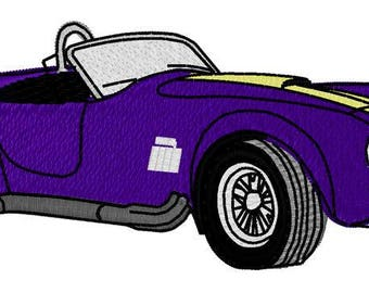 Sports Car 2 Embroidery File