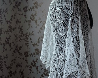 White Shawl for bride -made to order in any color