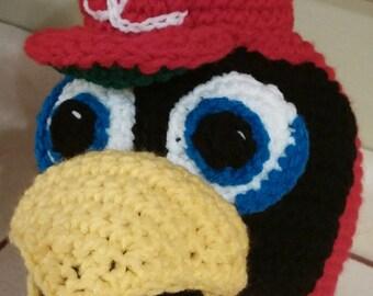 Crochet Redbird Mascot Beanie