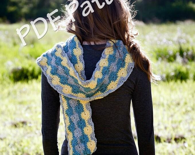 Easy crochet scarf pattern. crochet pattern, scarf pattern, womens scarf pattern, Striped scarf pattern, crochet scarf, instant download