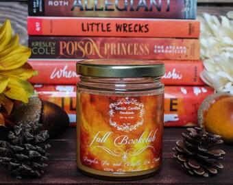 Fall bookclub Candle
