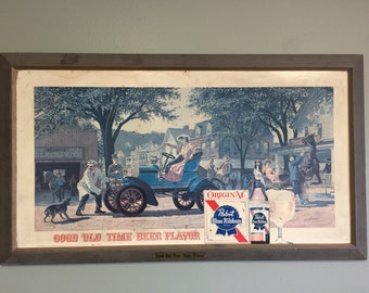 1960s PBR Large Bar Sign Pabst -Pick Up Only-