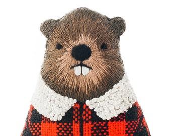 Beaver - Embroidery Kit