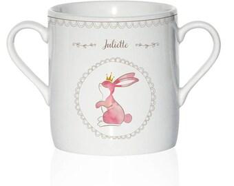 Custom Cup porcelain kids - Bunny pattern