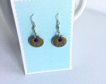 Dreams handmade sterling silver earrings with ceramic