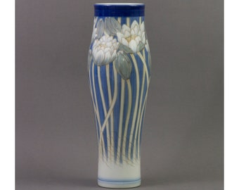 Royal Copenhagen - Large 1937 hand painted vase