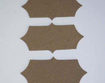 Chipboard Label Die Cut Set No. 1