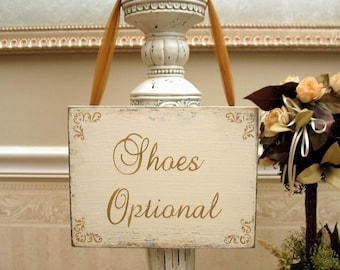 BRIDAL SHOES Optional sign shabby handmade wooden