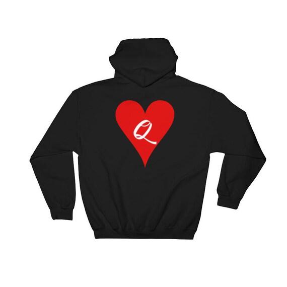 The Queen Of Hearts Alice in Wonderland Disney Hooded Sweatshirt