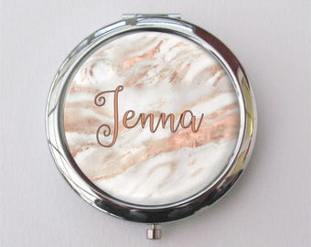 Custom Compact Mirror, Gift For Her, Personalized Gift