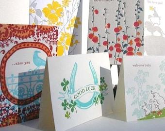 Besondere Anlässe Buchdruck Vielzahl Pack