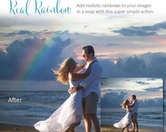 Photoshop Action   REAL RAINBOW - Photography Editing Made Easy With This One (atn) Action to Install on Your Computer.