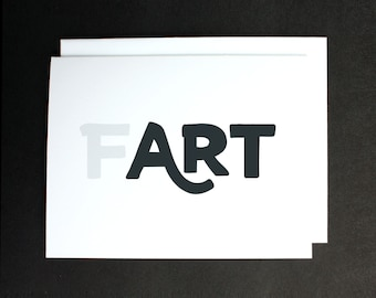 What is Art? Typographic FART Greeting Card A2