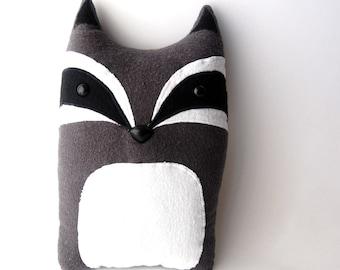 Raccoon Woodland Plush Stuffed Animal Pillow - Patrick