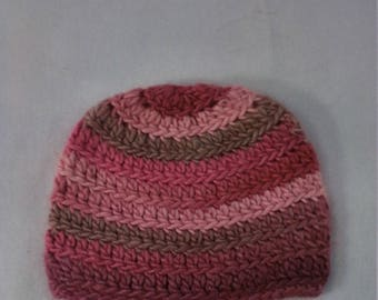 half price soy and wool hat in shades of pink