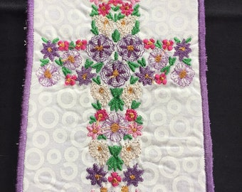 Book mark, Bible Book Mark, Religion, Spirituality, Great Gift, machined embroidered cross