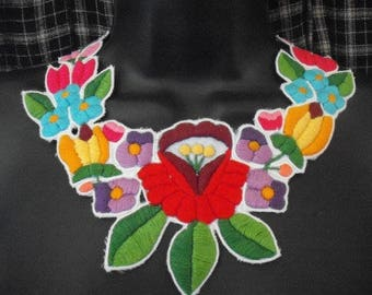 Hand embroidered necklace/ collar