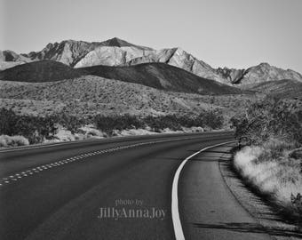 Black and White, Highway Photo, Photo Print, Nature Photography, Open Road Photo, Wall Art, Home Decor, Photo Art, Southwest Art