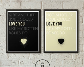Gaslight Anthem Brian Fallon Lyric Print -Typography Print Love Quote Poster -  Not Another Soul