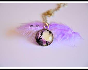 Necklace black fairy.