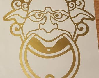 Labyrinth Door Knocker Decals