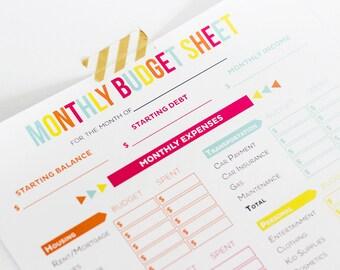 Editable Budget Worksheets