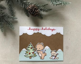 Christmas Card - Bears