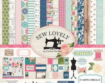 Scrapbooking paper pad Carta Bella Sew Lovely