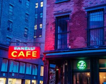New York Photo nyc photography Manhattan Cafe Restaurant Deli Soho Architecture Urban Photograph Building nyc29