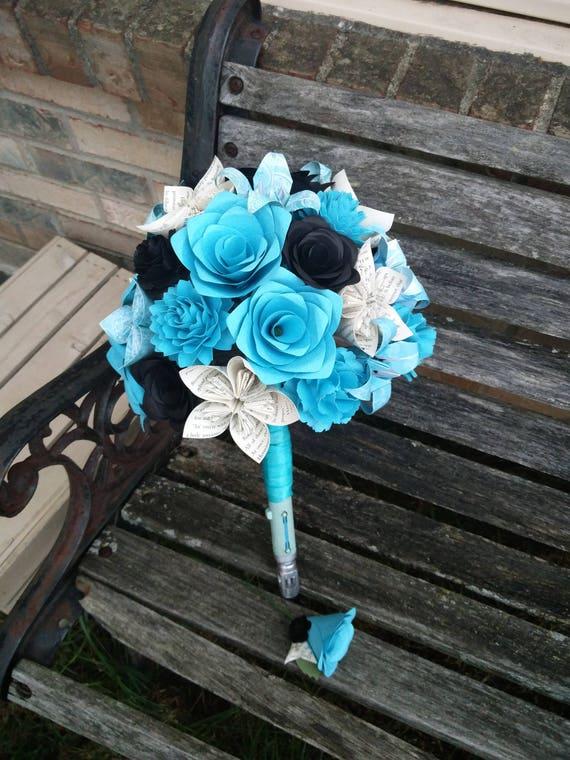 Custom Paper Flower Wedding Bouquets. Bridal, Bridesmaids, Boutonniers, Corsages, Centerpieces, Cake Toppers, Etc.