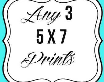 Any 3 5x7 prints--chalkboard art--hand drawn