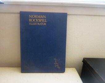 Norman Rockwell illustrator, art book, coffee table book, blue cover, hard cover, art history, american art, folk art, american history