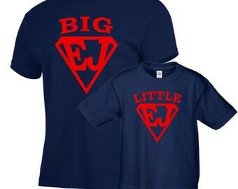 Father son matching shirts, superman shirt set, fathers day gift, personalized shirt, father gift