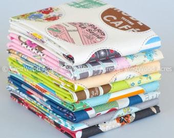 Retro Peek A Boo Polka Dot Fat Quarter Bundle of 8 designed by Yuwa designers