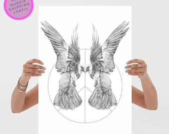 Doves Art Print - 100% Recycled - From TheWildGooseProject