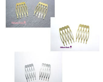 Set of 4 hair comb has hair / hair comb / 26 mm Metal hair clip