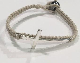 Cross Hemp Bracelet