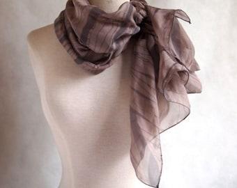 Wrap silk scarf, perfect for a wedding, ceremony, gala, gift