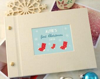Personalised First Christmas Mini Photo Album