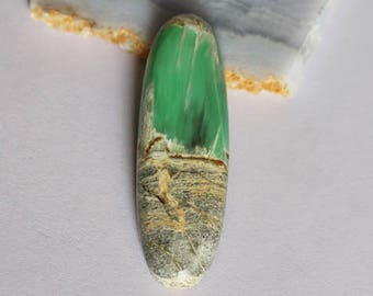 A One Grade Genuine Utah Green Variscite Cabochon, Oval Shape, Jewelry Making, Wholesale Price, Utahlite Suppliers New Gemstone, Cab AG-5804