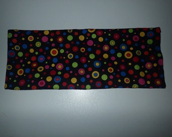 Sinus Flaxseed Heating Pad, Cold Pack, Flax Seed Heating Pad, Natural Heating Pad, Ice Pack, Polka Dots, Colorful Polka Dots